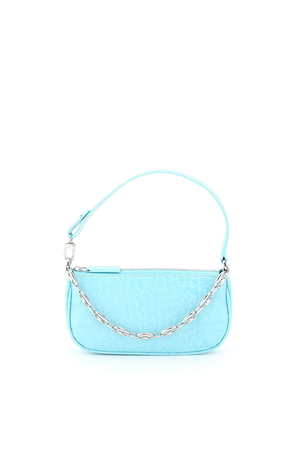 By Far MINI RACHEL CROCODILE PRINT MINI BAG