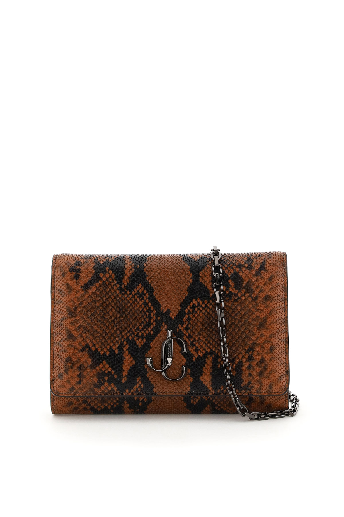 Jimmy Choo Leathers VARENNE CLUTCH WITH CHAIN
