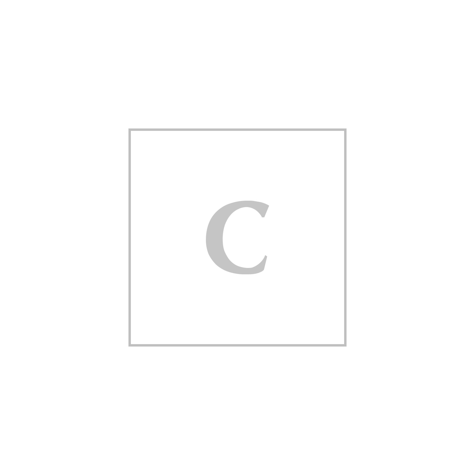 Stella mccartney logo zip clutch