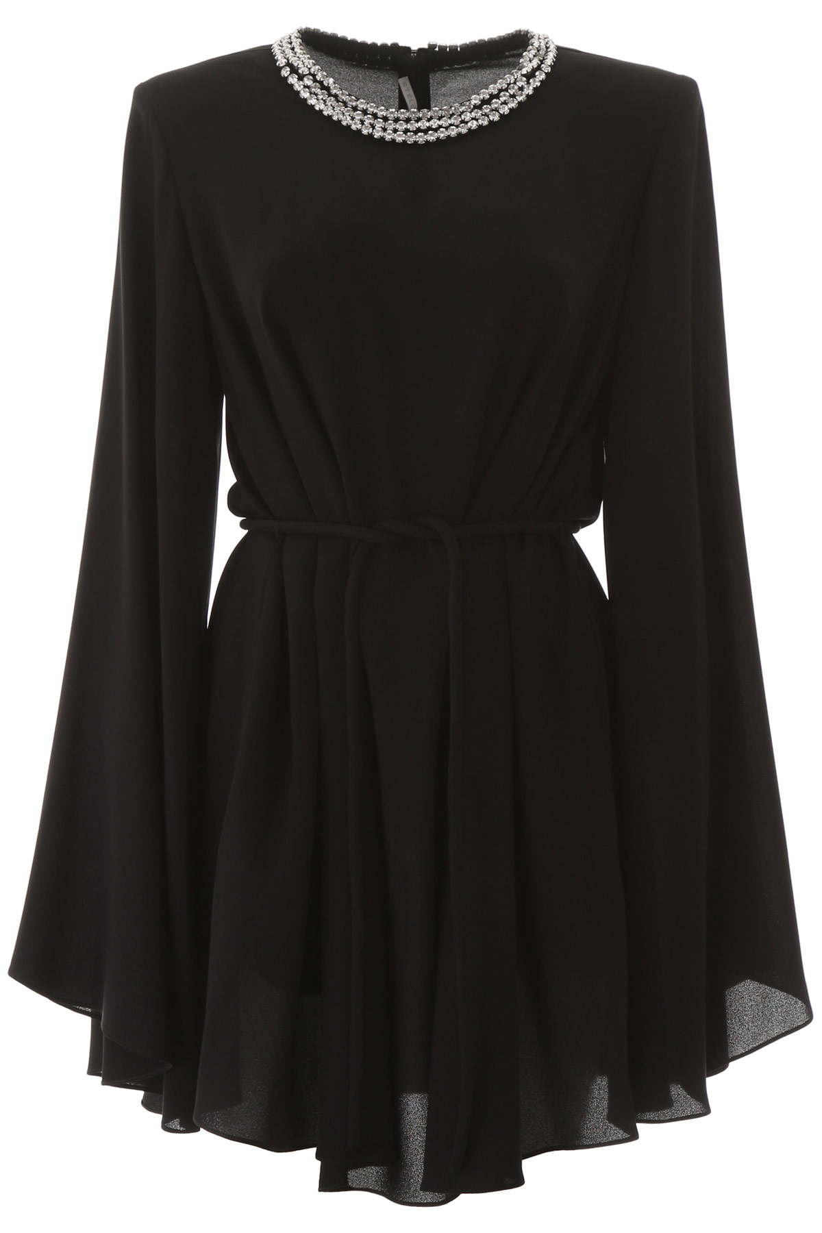 Stella Mccartney Shaniya Mini Dress With Crystals In Black