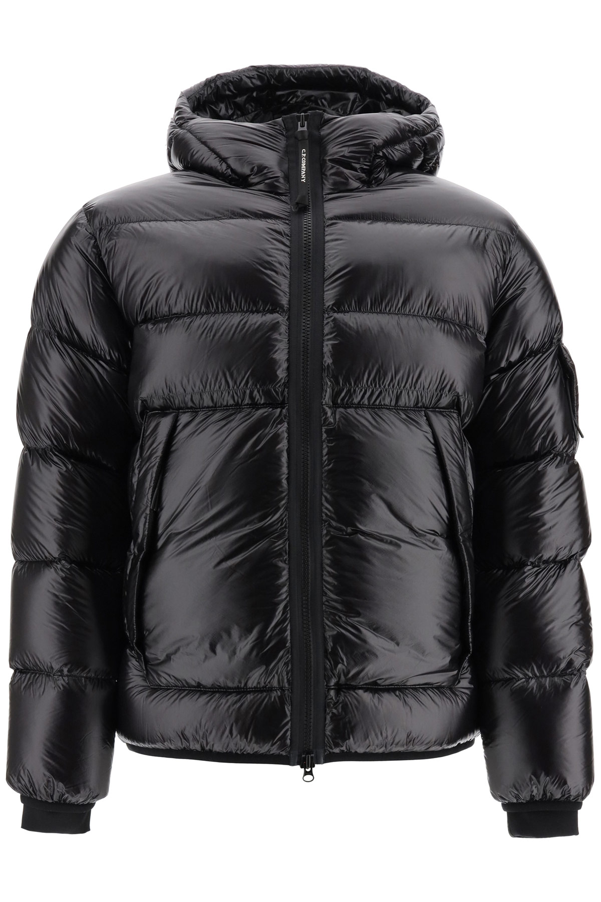 cp company down jacket with lens 48 black