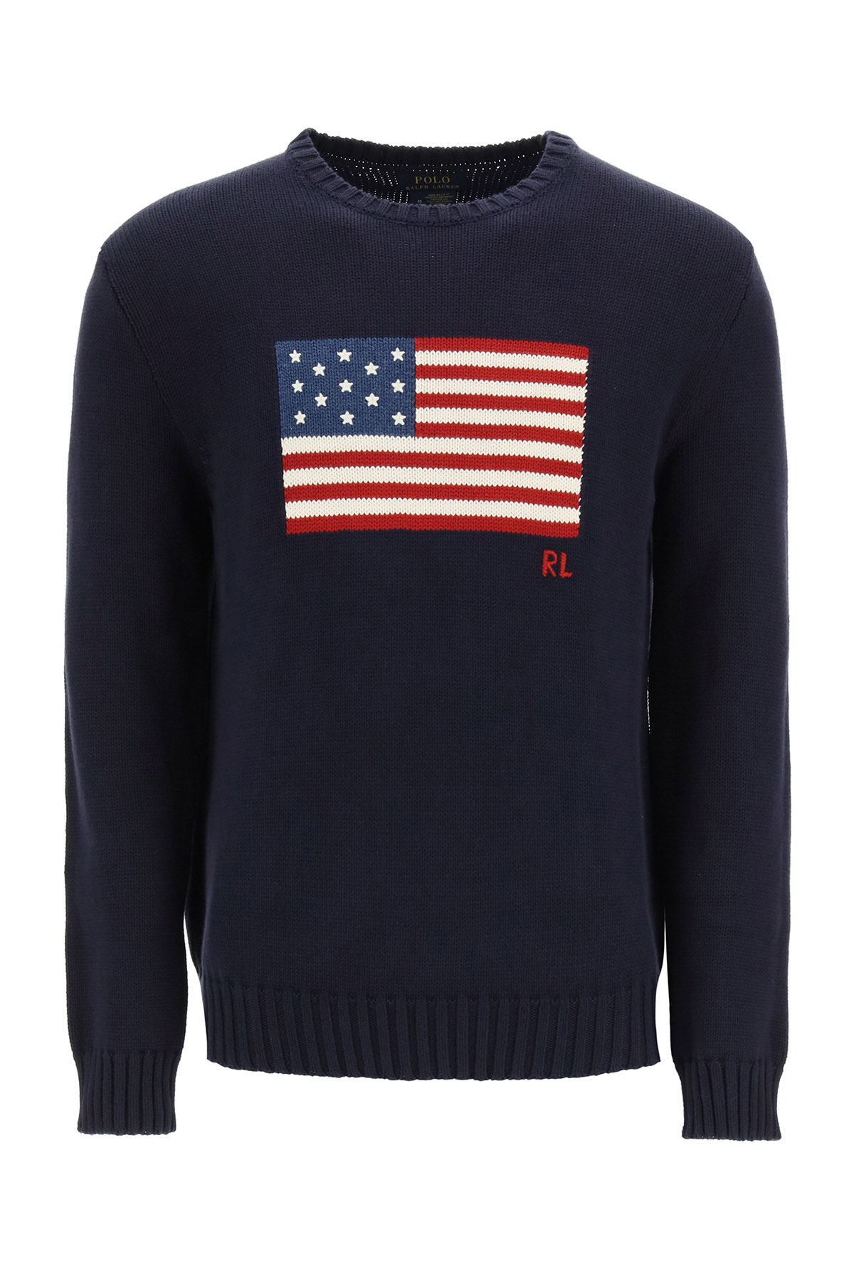 Polo Ralph Lauren Cottons SWEATER WITH AMERICAN FLAG