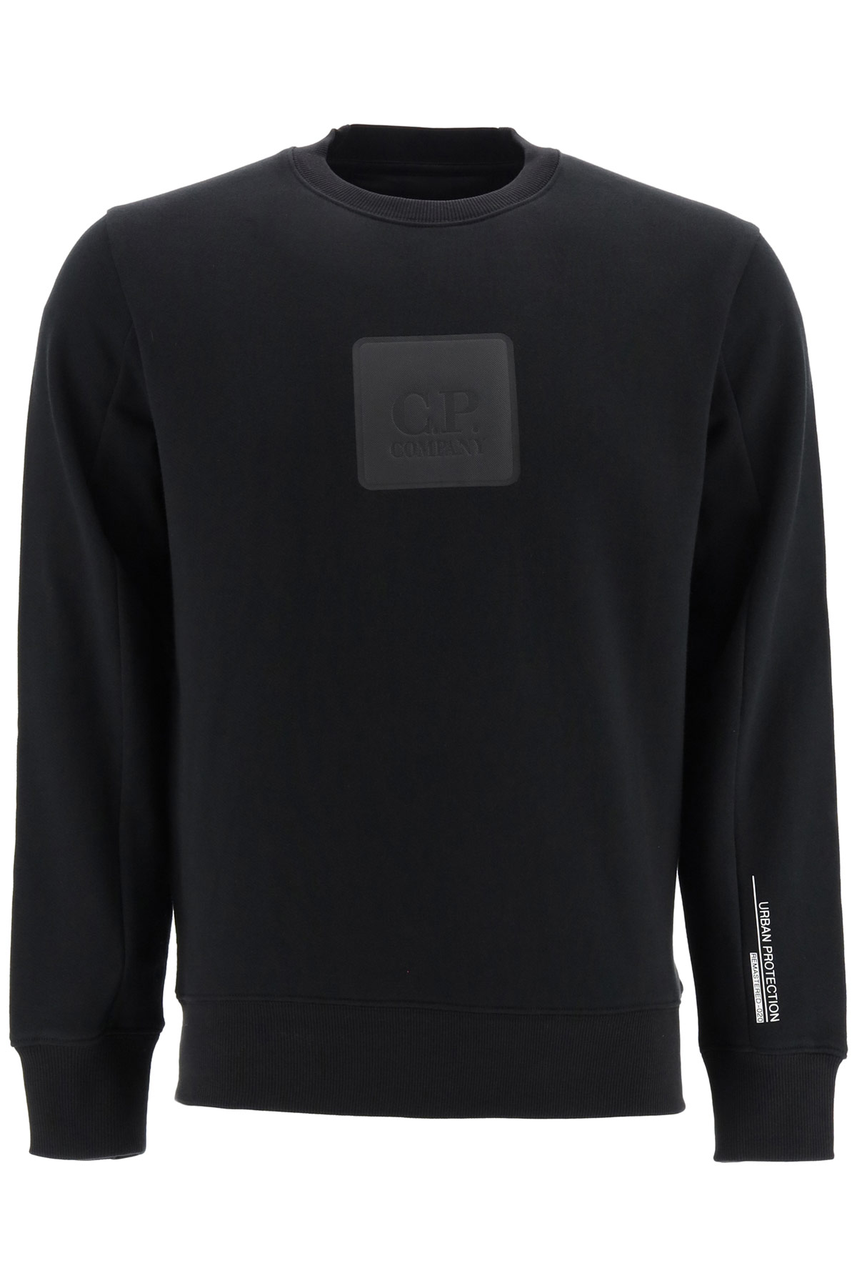 cp company sweatshirt with logo s black cotton