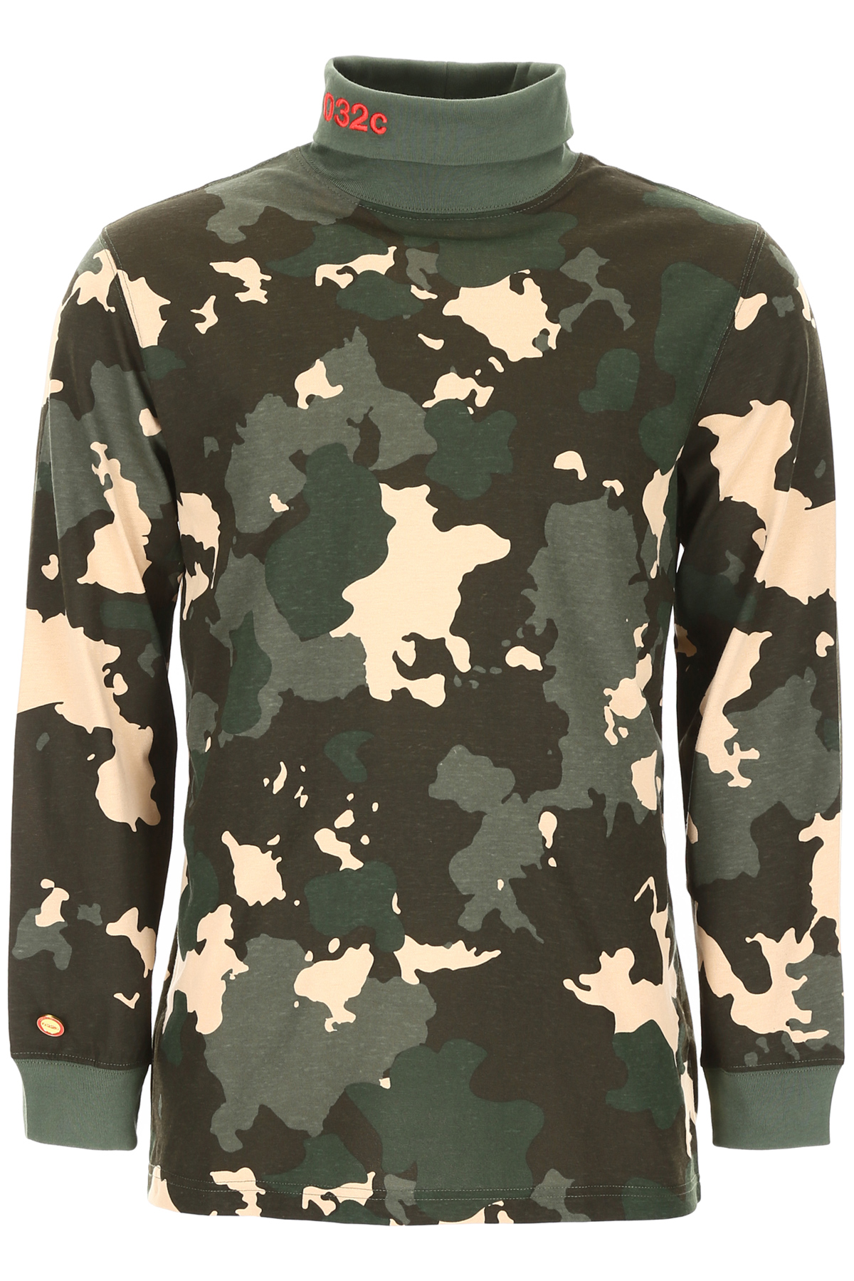 032C CAMOUFLAGE LONG-SLEEVED T-SHIRT S Beige Cotton