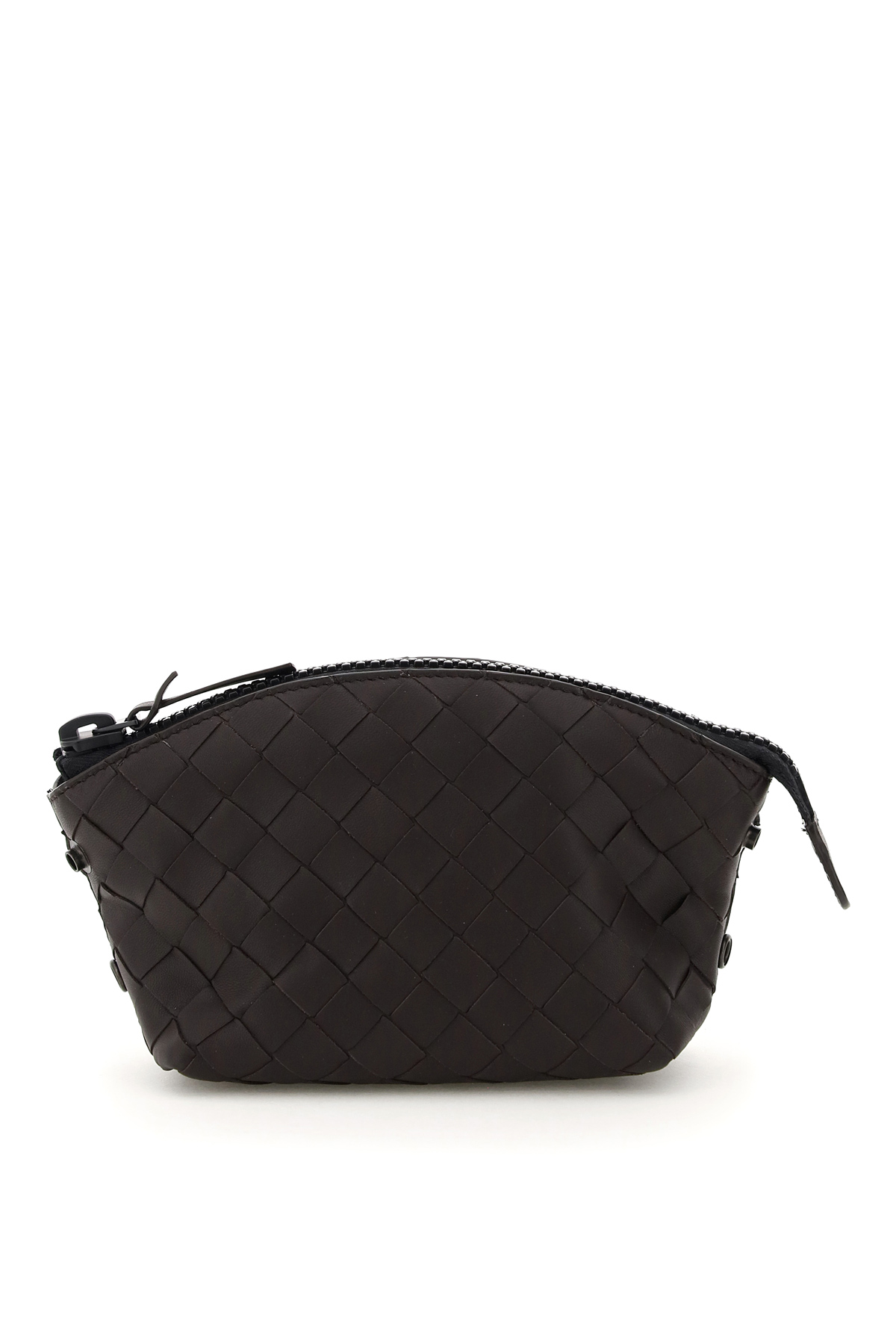 BOTTEGA VENETA PACKABLE TOTE BAG WITH POUCH OS Brown, Black Leather, Technical