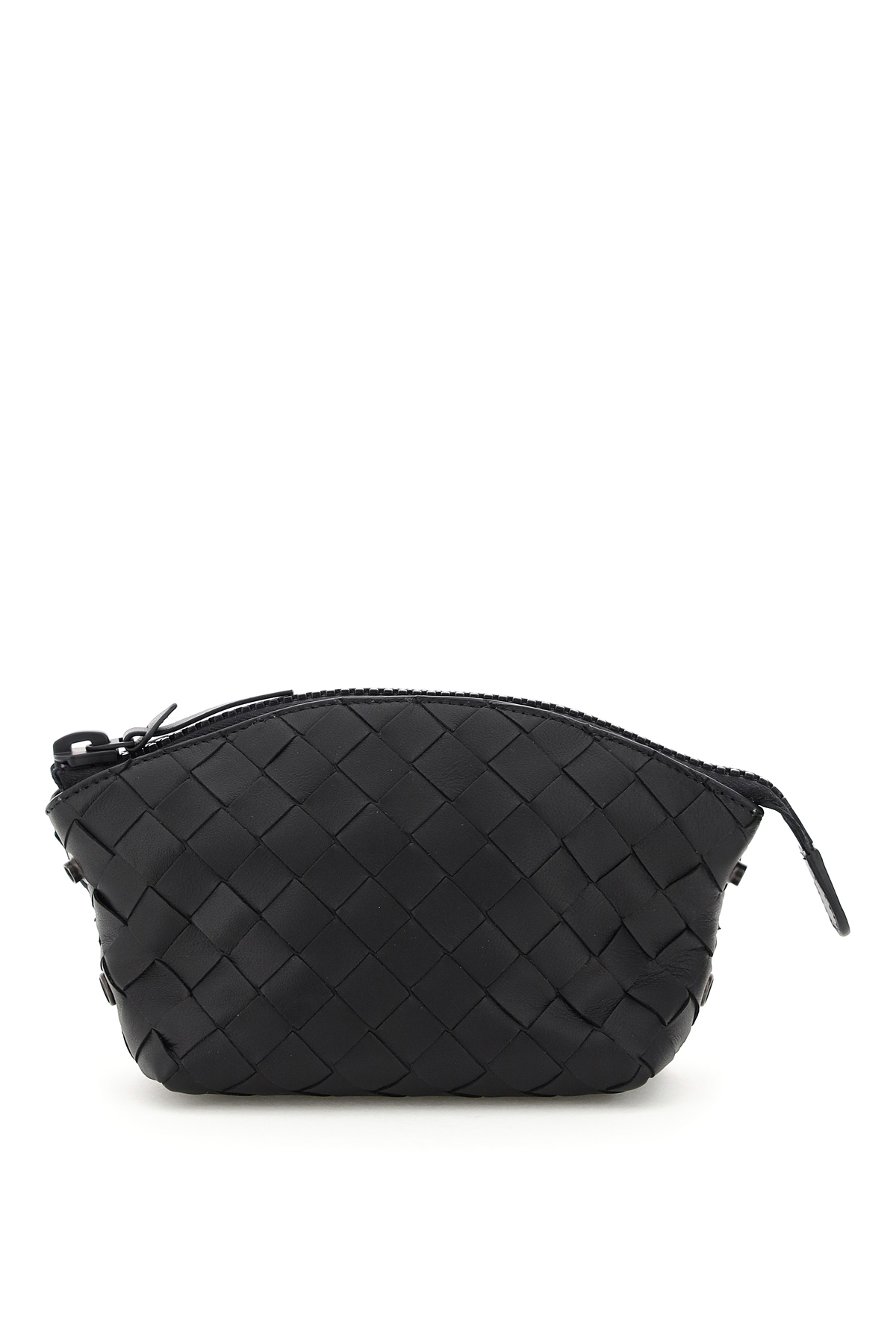 BOTTEGA VENETA PACKABLE TOTE BAG WITH POUCH OS Black Leather, Technical