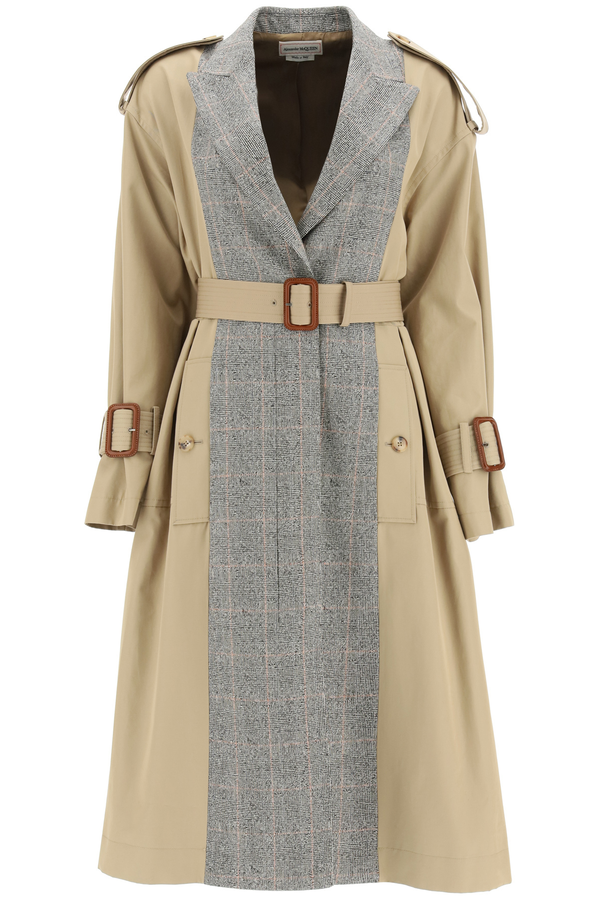 Alexander Mcqueen TRENCH COAT WITH PRINCE OF WALES PANELS