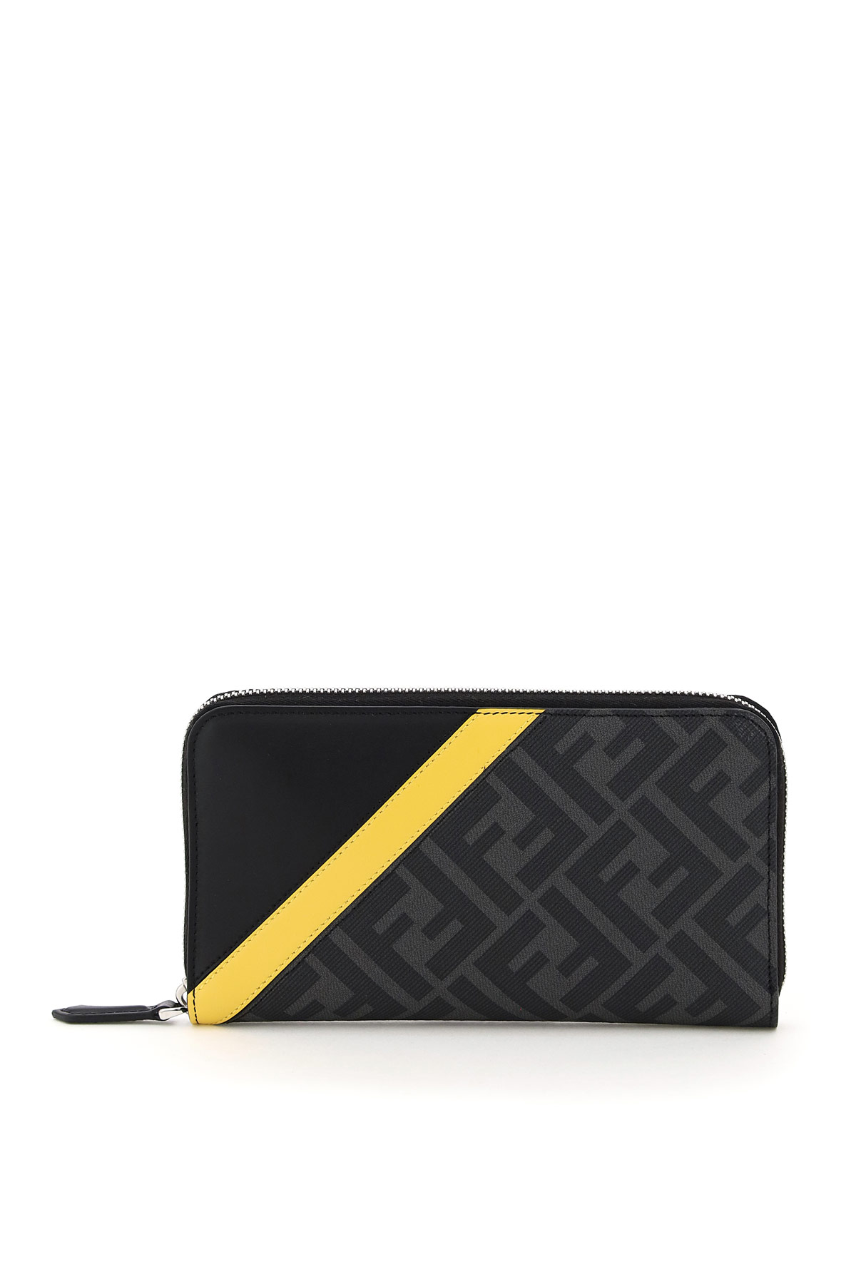 Fendi FF STRIPE ZIP-AROUND WALLET